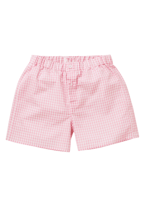 Pink Gingham Zephirlino Patchwork Boxer Shorts