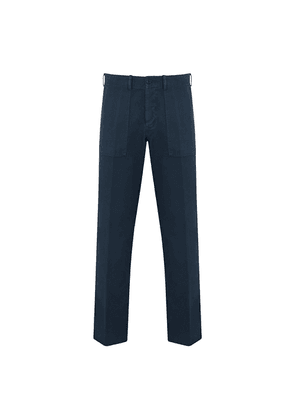 Navy Cotton Utiliy Trousers