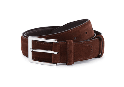 Brown Polo Suede Belt