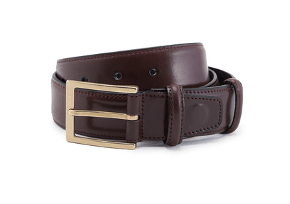 Burgundy Cordovan Leather Belt