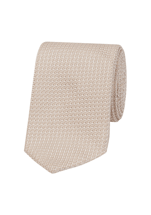 Ivory Silk Knitted Tie
