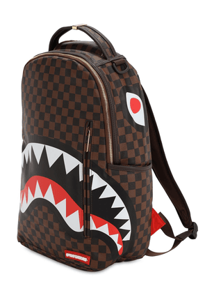 Shark In Paris Faux Leather Backpack