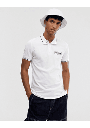 Love Moschino tipped polo shirt