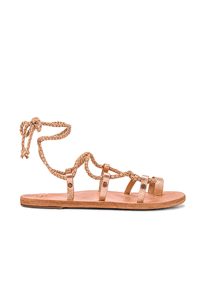 Beek Wren Sandal in Metallic Gold. Size 10,7,8,9.