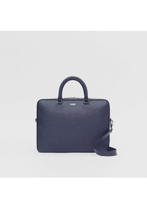 Burberry Grainy Leather Briefcase, Blue