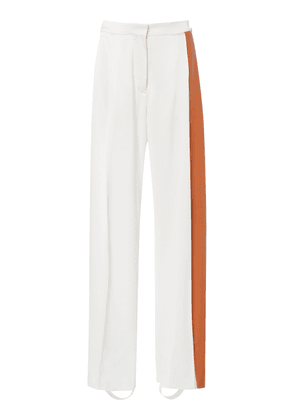Loewe Leather Panel Wide-Leg Satin Trousers