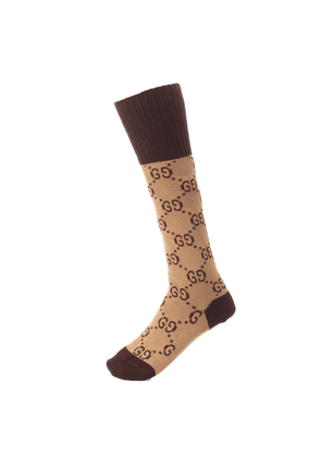 GG stretch-cotton socks