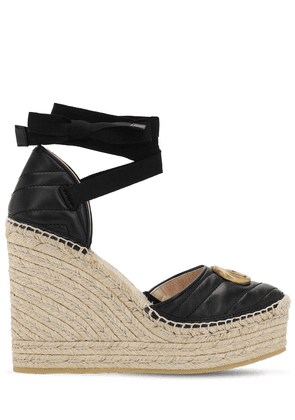 120mm Palmyra Quilted Leather Wedges