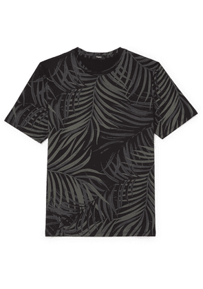 Theory - Saygo Slim-fit Printed Pima Cotton-jersey T-shirt - Black