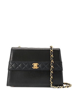 Chanel Vintage Trapezoid Turn-Lock Chain bag - Black