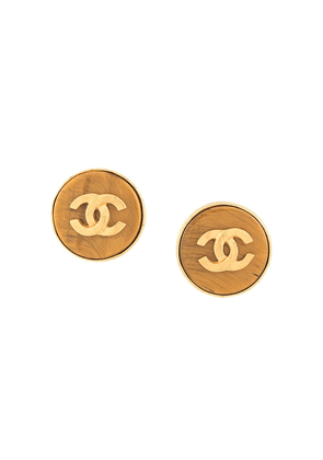Chanel Vintage round CC earrings - Gold