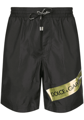 Dolce & Gabbana logo band swimming shorts - Black