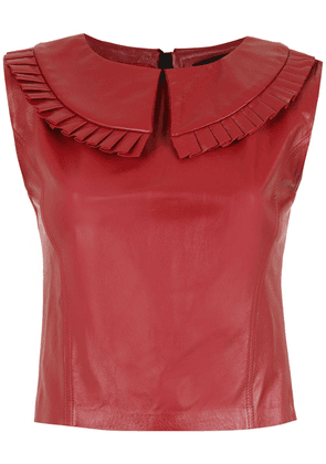 Andrea Bogosian leather blouse - Red