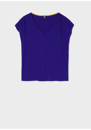 Women's Indigo V-Neck Top