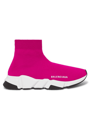 Balenciaga - Speed Stretch-knit High-top Sneakers - Pink