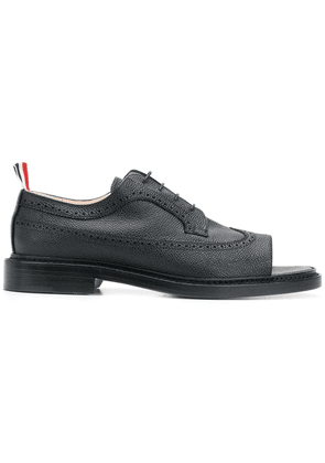 Thom Browne open toe brogues - Black