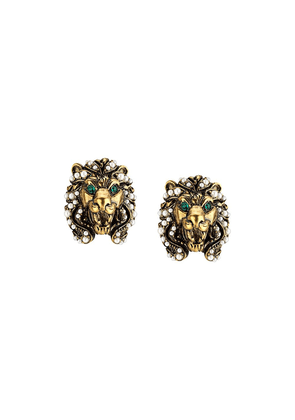 Gucci lion head earrings - Gold