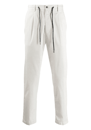 Barba classic jersey trousers - White
