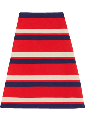 Gucci Striped wool skirt - Red