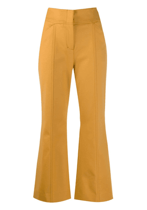 Dorothee Schumacher cropped flare trousers - Neutrals
