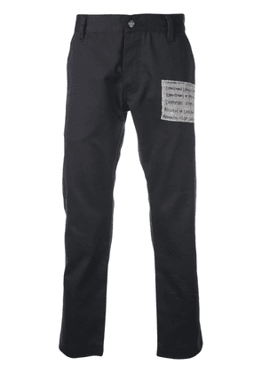 Enfants Riches Déprimés cropped slim-fit trousers - Blue