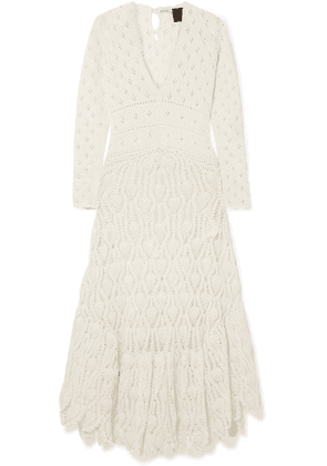 Loewe - + Paula's Ibiza Crocheted Cotton Maxi Dress - Ivory