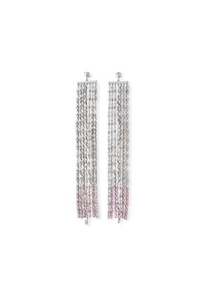 Waterfall Crystal Earrings, Clear/Pink