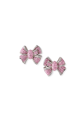 Diamante Bow Stud Earrings