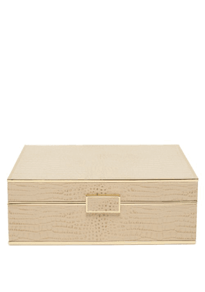 Aerin - Classic Large Leather Jewellery Box - Gold