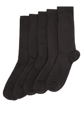 Cdlp - Pack Of Five Bamboo Blend Socks - Mens - Charcoal