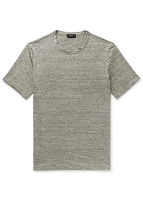 Theory - Essential Mélange Stretch-linen T-shirt - Gray