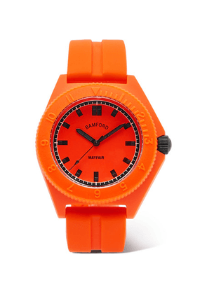 Bamford Watch Department - Mayfair Sport Polymer And Rubber Watch - Orange