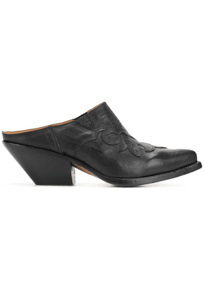 Buttero slip-on pointed mules - Black