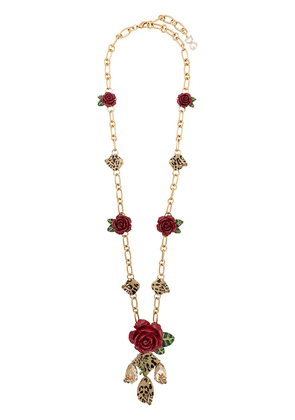 Dolce & Gabbana floral charm necklace - Gold