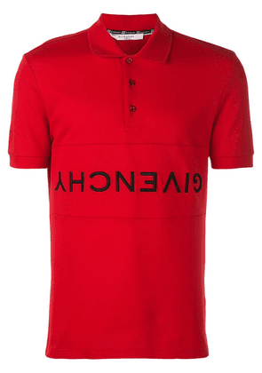 Givenchy upside down logo polo - Red