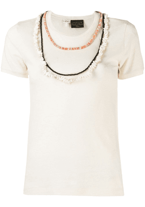 Loewe necklace detailed T-shirt - Neutrals