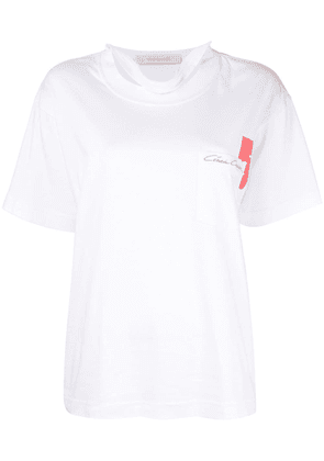 Cédric Charlier embroidered logo T-shirt - White