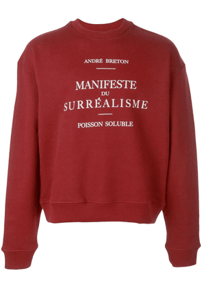 Enfants Riches Déprimés crew neck sweatshirt - Red