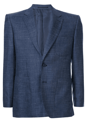 Gieves & Hawkes textured suit jacket - Blue