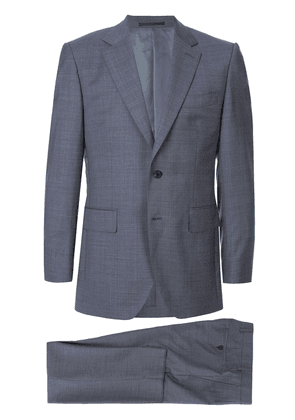 Gieves & Hawkes mini geometric print suit - Blue