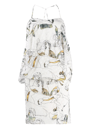 Chalayan multi-print dress - Neutrals
