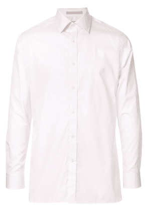 Gieves & Hawkes striped long-sleeve shirt - Pink