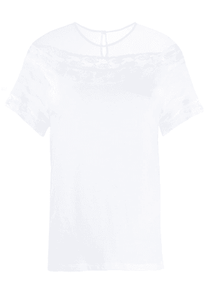 Ermanno Scervino sheer panel T-shirt - White