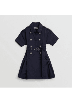 Burberry Childrens Stretch Cotton Trench Dress, Size: 8Y, Black