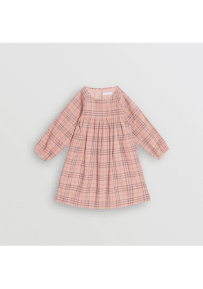 Burberry Childrens Check Cotton Poplin Dress, Size: 3Y, Pink