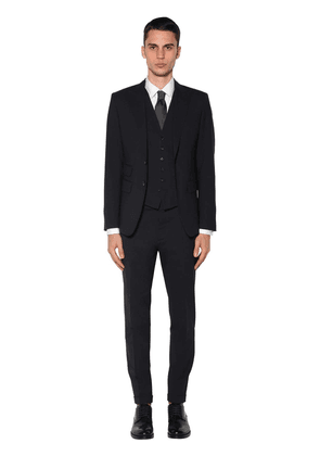 London Three Piece Stretch Wool Suit