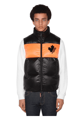 Logo Printed Nylon Down Vest