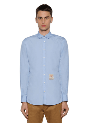 Cotton Poplin Shirt W/ Patch