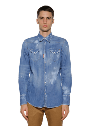 Western Cotton Denim Shirt