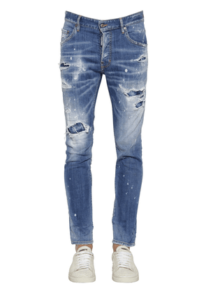 16cm Skater Stretch Cotton Denim Jeans